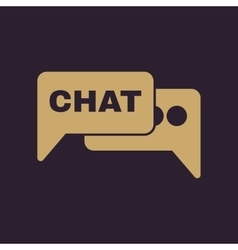 The speech bubble with a chat icon Internet and vector