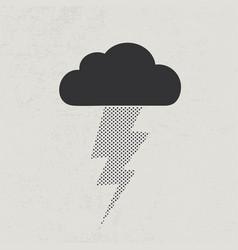 thunderstorm lightning concept vector image