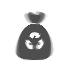 trash bag icon gray icon shaked at white vector image vector image