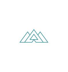 triangle shape abstract company logo vector image