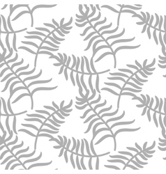 Tropical jungle palm leaves pastel gray color vector