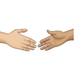 Two people want tu shake hands vector