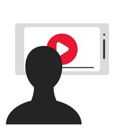 viewer smartphone screen vector image