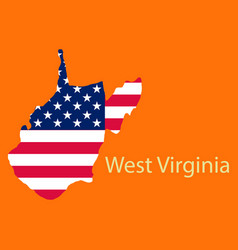 West virginia state of america with map flag vector