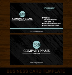 Wood business card template vector