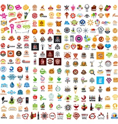 biggest collection of logo design food and vector image vector image