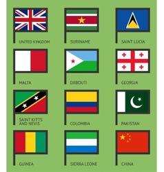 Flags flat set-07 vector image