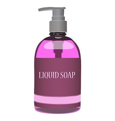 Pink soap bottle vector image vector image