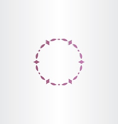 Purple circle frame design vector