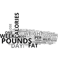 What is reasonable weight loss text word cloud vector