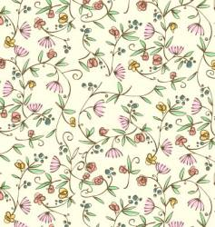 ditsy floral seamless wallpaper vector image vector image