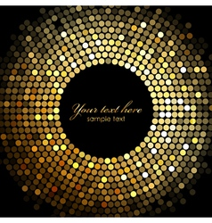 gold disco lights frame vector image vector image