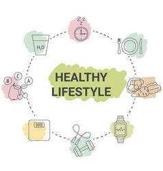 healthy lifestyle concept healthy lifestyle vector image