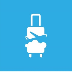 logo with suitcase plane and sky vector image