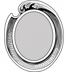 oval ornate frame vector image vector image