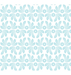 Seamless pattern with blue decorative elements vector image vector image