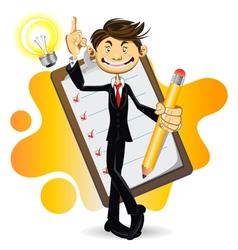 Smart Businessman vector image vector image