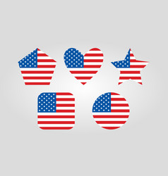 usa graphic icons vector image