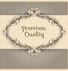 vintage frame and grunge background vector image vector image