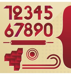alphabet elements vector image