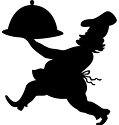 Cook silhouette vector image