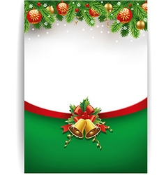 merry chrismas background with place for text vector image