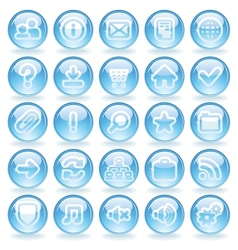 Shine Glass Icons vector image vector image