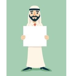 Arab Businessman Traditional National Muslim vector image vector image