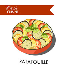 delicious ratatouille meal from french cuisine vector image vector image