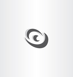eye logotype black icon design vector image