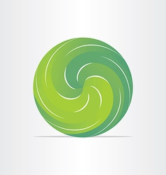 green eco spring design element vector image vector image