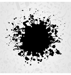 Musical stain vector image vector image
