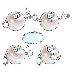 Thinking pearl set vector image vector image