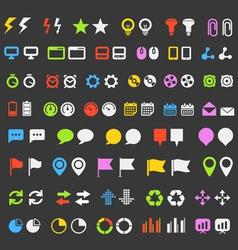 web pictograms vector image vector image