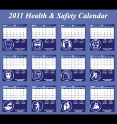 2011 calendar has collection vector image