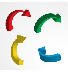 3d arrow icon vector image