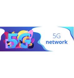 5g network concept banner header vector image
