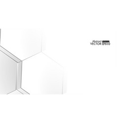 Abstract embossed hexagon honeycomb white vector