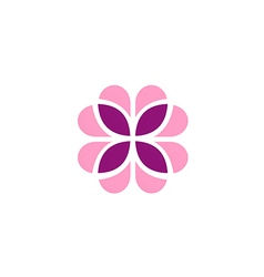 Abstract flower geometry decoration logo vector