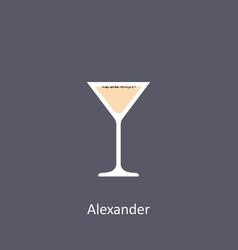 Alexander cocktail icon on dark background vector