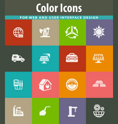 alternative energy icons set vector image