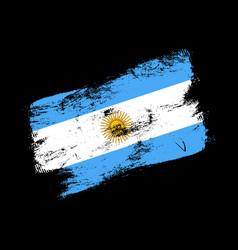 argentina flag grunge brush background old brush vector image