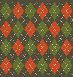 argyle fall seamless pattern plaid vector image