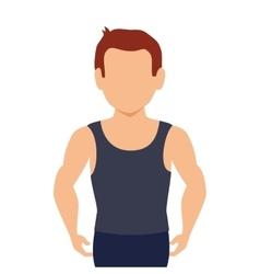 Avatar muscle man vector