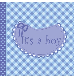 baby arrival announcement for boy vector image