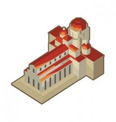 basilica san lorenzo vector image vector image