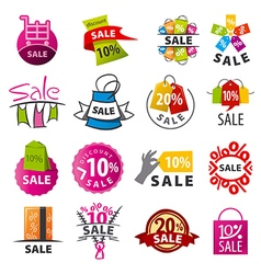 biggest collection of logos discount vector image