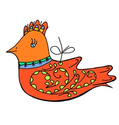 Bird doodle vector