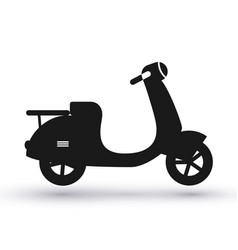 black scooter icon vector image