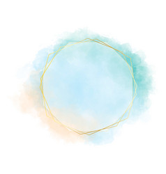 blue green and orange watercolor circle splash vector image